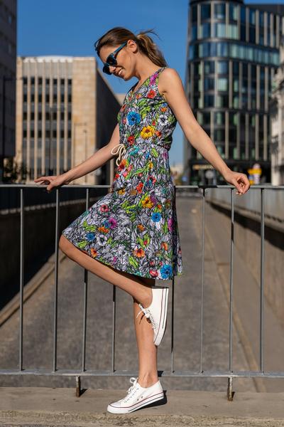 Sukienka bawełniana Mary Mosaic Natura - OSBL-13M4