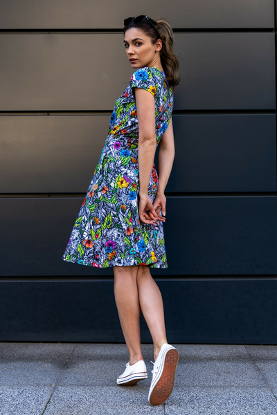 Sukienka bawełniana Mosaic Natura - OSRL-13M4