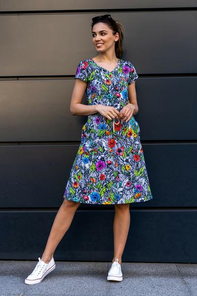 Sukienka bawełniana Luna Mosaic Natura - OSRL-13M4