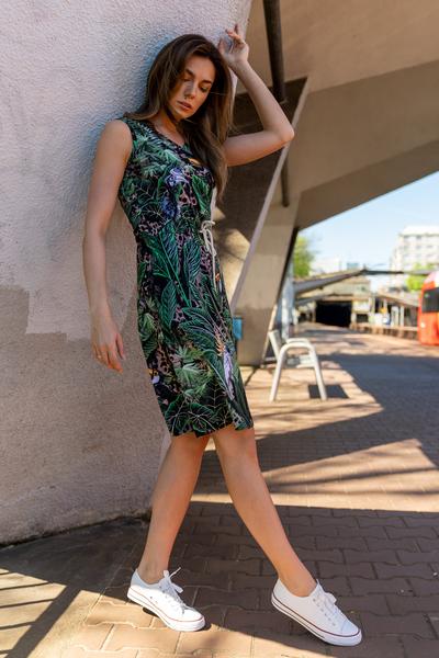 Sukienka bawełniana Mary Selva Sand - OSBL-11T1