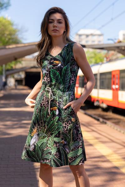 Sukienka bawełniana Selva Sand - OSBL-11T1