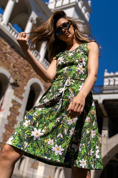 Sukienka bawełniana Wild Flowers - OSBL-13W1