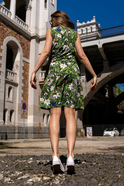 Sukienka bawełniana Mary Wild Flowers - OSBL-13W1