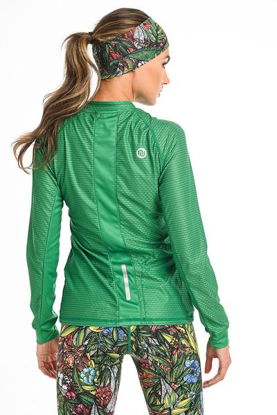 Bluza treningowa Karbon Zip Green Karbon KLC-70