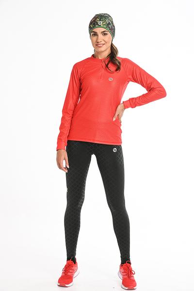 Bluza treningowa Karbon Zip Red Karbon KLC-40