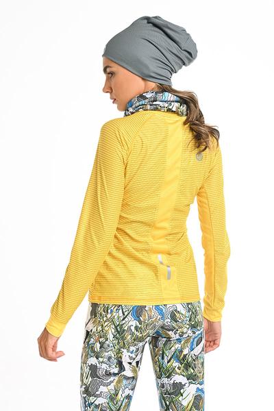 Bluza treningowa Karbon Zip Yellow Karbon KLC-10