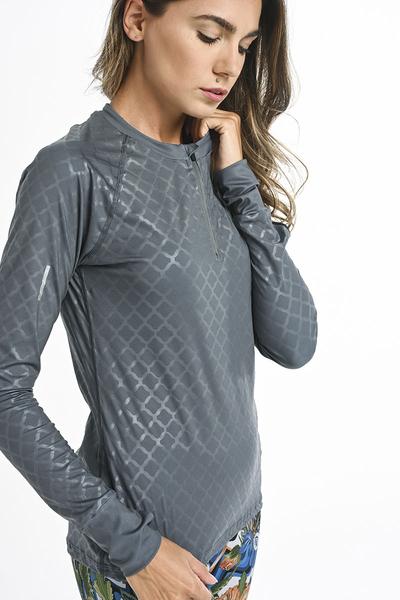 Bluza treningowa Zip Shiny Grey LBKZ-1199T