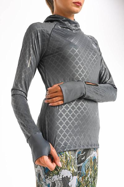 Bluza treningowa z kapturem Shiny Grey LBKH-1199T