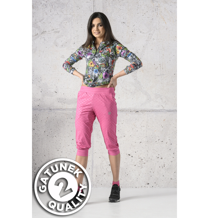 Spodnie dresowe 3/4 Shiny Royal Pink II Gatunek - SCC3-1120T-G2 - packshot